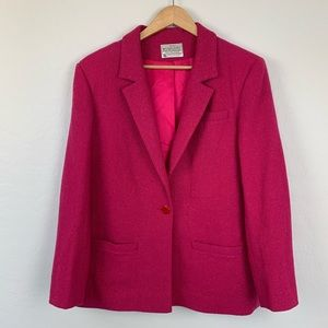 Vintage Pendleton pink purple wool blazer size 14
